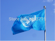Fashion 90*150 cm United Nations flag National Flag / Banner Office/Activity/parade/Festival/Home Decoration 3x5 feet 10pcs /lot(China)