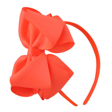 1 Pc Neon Grosgrain Ribbon Hairband Solid Color Bow Hair Band For Girl Kids Hair Accessories