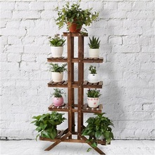 Modern Bookcase Living Room Storage Cabinet Solid Wood Flower Rack Balcony Pot Culture Shelf