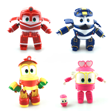 Robot Train Toys For Children Train Deformation Anime Figure Action Kids Toys Dynamic Train Family With Box Juguetes Gifts(China)