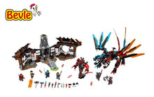 Bela 10584 Ninja Dragon's Forge Nya/Kai/Ray/Maya Blade Model Building Blocks Bricks Toy Compatible With Lepind Ninja 21003