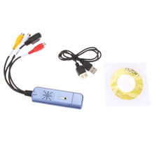 USB 2.0 Converter Audio Video Capture Grabber Adapter for Win XP 7 8 10 NTSC PAL High Quality
