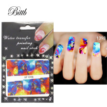 Bittb 2pcs Colorful Painting Design Water Transfer Nail Stickers Decal French Manicure DIY Foil Fingernail Tip Nail Art Sticker(China)