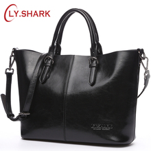 Buy LY.SHARK Brand Women Bag Ladies' Genuine Leather Shoulder Crossbody Bag Female Messenger Bags Designer Handbags Tote Bag Black for $45.81 in AliExpress store
