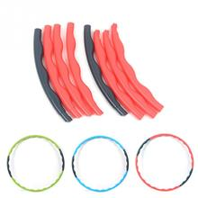 Entertainment Tools 80cm Portable Fitness Removable Weight Loss Hard Pipe Equipment Waist Slimming Hula Hoops 3 Colors(China)