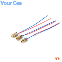 10pcs 650nm 6mm DC 5V 5mW  Laser Dot Diode Module Red Copper Head