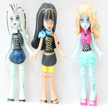 3pcs/lot Monster Toys Dolls Small Size Model 7cm High Quality Toy Gift for girls Classic Toys Action Figure(China)