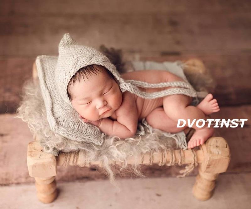 Dvotinst Newborn Baby Photography Props Wooden Bed 0-1 Month Fotografia Accessory Infantil Toddler Studio Shooting Photo Prop<br>