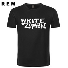 new white zombie t-shirt cotton tops tees men casual homme free shipping t shirt plus(China)