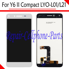 White New Full LCD Display + Touch Screen Digitizer Assembly Replacement For Huawei Y6 II Compact LYO-L01 LYO-L21 Free Shipping(China)