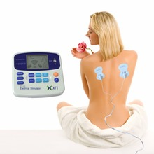 XFT-320 Dual Tens Machine Digital Massager Massage Electrode Pad Acupuncture Pen Body Foot Massage Device Pain Relief(China)