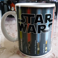 Drop shipping! Star Wars Mug Lightsaber Heat Reveal Mug color change coffee cup sensitive Ceramic Mug(China)