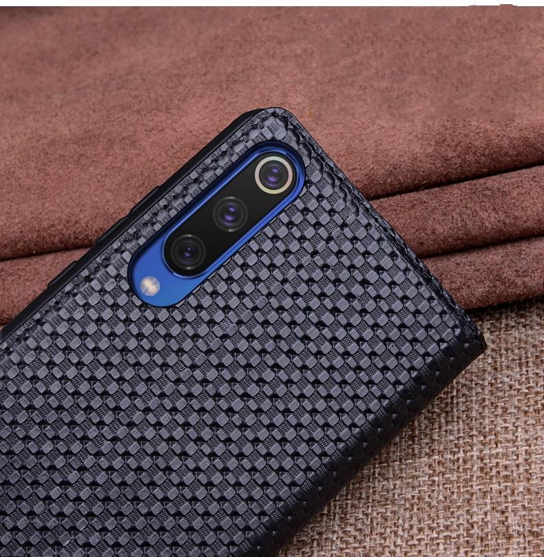 For Xiaomi Mi 9 Case Mi9 Cover Luxury Geniuine Cowhide Leather Soft Silicone Cases for Xiaomi Mi9 Case Flip Cover Case09