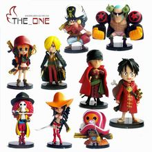 9 Pcs/Set 6-7cm Cartoon One Piece Luffy The straw hat Pirates PVC Anime Action Figure Toys Kids Adult Collection Model Gift P020(China)