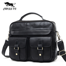 CROSS OX 2017 New Arrival Wax Leather Bag Men's Bag Genuine Leather Satchel Handbags Messenger Bags For Men Vintage Bag HB568M