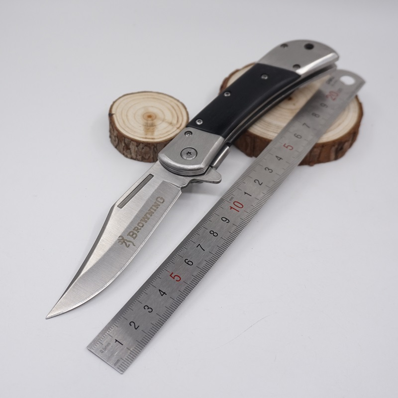 HOT Browning Knife Folding Pocket Knife Tactical Survival Knives Stainless Steel Blade Wooden Handle Camping Outdoor EDC Tools(China (Mainland))
