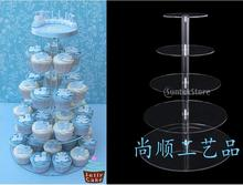 Crystal 5 tiers acrylic wedding cupcake stand cupcake display stand plexiglass cupcake holder wholesale cake display decoration