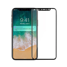 Full screen coverage Glass film for iphone X tempered glass screen protector printing edge to edge protection screen saver(China)