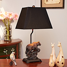 Luxury Modern Table Lamp Resin Bear Table Lamp Fabric Lampshade Living Room Abajur Table lamp For Bedroom Lamparas De Mesa