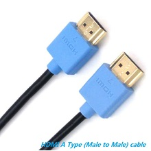 Slim HDMI Cable 0.25m,1m 2m 3m 5m 10m 15m with Ethernet 1.4 for HD TV's / Xbox 360 / PS3 / Playstation 3 / SkyHD / Blu Ray DVD(China)