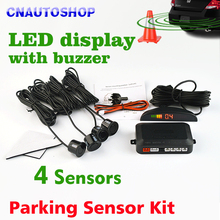 Car LED Parking Sensor Kit 4 Sensors 22mm Backlight Display Reverse Backup Radar Monitor System 12V 8 Colors