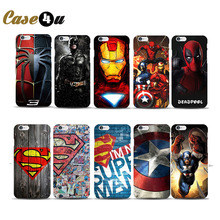 Marvel Avengers Deadpool Spiderman Superhero Phone Cases for iphone 7 Plus 5 5S SE 6 6S coque capinhas Hard Case Batman Ironman