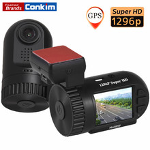 "Conkim Mini 0805P Auto Dash Camera GPS Recorder 1296P 1080P Full HD DVR Capacitor Hidden Car Cam Registrator 1.5"" Car Black Box(China)"