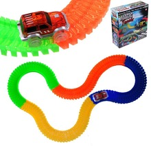 Magic Tracks Car The Amazing Racetrack that Can Bend Flex Glow Racing Children Kids Toys 162/165/220/240 PCS Packing Box