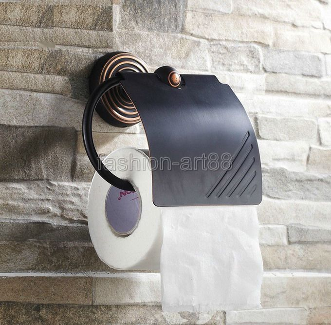 Bathroom Accessory Black Oil Rubbed Bronze Wall Mounted Bathroom Fitting Toilet Paper Roll Holder aba121<br><br>Aliexpress