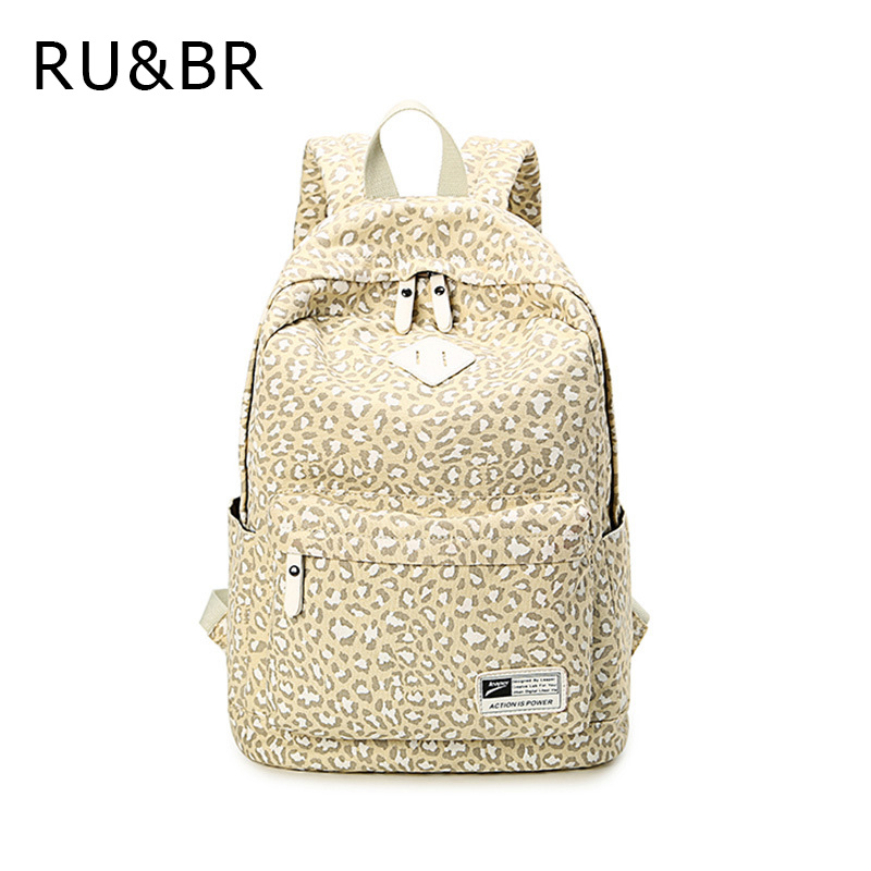 RU&amp;BR Classic Printing Leopard Women Backpacks Travel Casual Bags For Teenagers Girls Europe College Students Mochila Feminina<br><br>Aliexpress