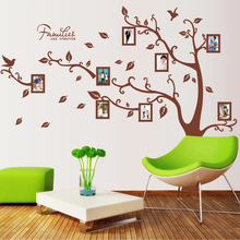 Big Family Tree Forever Photo Frame Wall Sticker Living Room Bedroom Wall decals Wedding decor Children Nursery Poster Mural