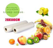 2 Pieces PA+PE 28*500cm Vacuum Packing Bags for Food Saving Storage Bags Sealer Rolls Storage Bag Cryovac Keep Food Fresh