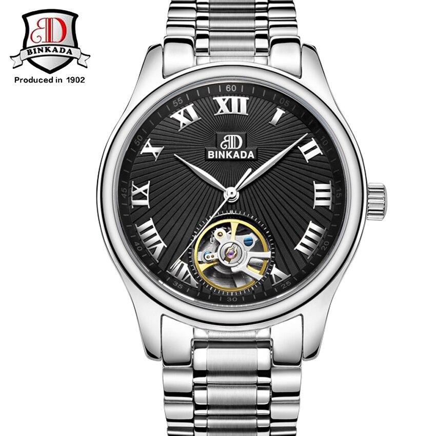 BINKADA Watch Men Automatic Mechanical Luxury Brand Mens Watch Clock Men Wrist watches Relogio Masculino Fashion reloj hombre<br><br>Aliexpress