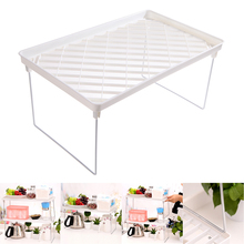 Superposition Shelf Single layer Snap Type Plastic Foldable Storage Racks Kitchen Shelving Holders Multiuse Organizer