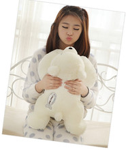 Super cute 1pc 58cm cartoon soft pretty white polar bear plush animal doll sweet stuffed toy girl baby birthday gift