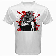 Akatsuki blood naruto Anime Manga itachi sasuke sharingan japan Tshirt White(China)