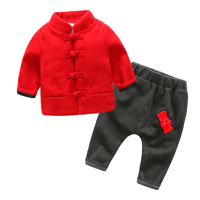 Boys Girls Clothing Set 2018 Winter Traditional Style Cotton Casual Clothing Sets Childrens Clothes Suits 2-7T<br>
