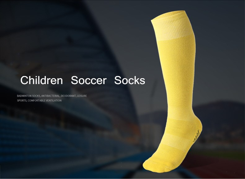 Professional Soccer Socks Pure Color Knee-High Towel Children Football Socks