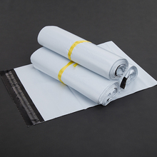Retail White 7 Sizes 100Pcs/Lot Poly Mailer Mailing Packing Pocket Express Courier Bags Envelope Plastic Mailers Package Bag(China)