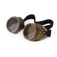 Vintage Rustic Cyber Goggles Steampunk Welding Goth Cosplay Photos(China)