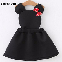 girls clothes Lovely air layer strap girl dress cartoon minnie dress for girls kids dresses for girls cotton autumn baby dress(China)