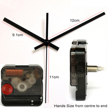 12888 11mm screw length Clock Accessory Quartz Movement Plastic Step Movement With 1# Black Clock Hands DIY Clock Kits