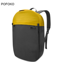 POFOKO Brand Waterproof back pack Men Knapsack Laptop Bags 12 to 14 Inch Business Men Backpacks School Backpack for Boy Girl