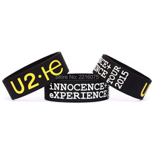 300pcs one inch U2 Innocence Plus Experience Tour wristband silicone bracelets free shipping by DHL express
