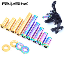 RISK Titanium Road Bike Caliper Brake Screw Nuts + Washer for Bicycle Front / Rear C Brake Fixed Bolts Kit 10 15 20 25 30 40 mm