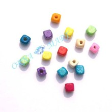 supply DIY fashion jewerly accessory,5MM square shape wood beads,earring accessory,mix colors(China)