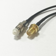 "New RP SMA Female Jack nut To FME  Female Jack Connector RG174 Coaxial Cable 20CM 8"" Adapter RF Pigtail"