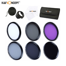 K&F CONCEPT CPL UV FLD ND2 ND4 ND8 Lens Filter Set for Canon Nikon 37MM 40.5MM 49MM 52MM 55MM 58MM 62MM 67MM 72MM 77MM Polarizer(China)