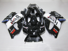 Aftermarket bodywork fairing kit for Suzuki SRAD GSXR600 1996-2000 GSXR 600 750 96 97 98 99 00 white black fairings set OY07(China)