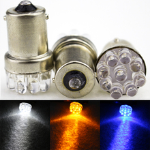 10pcs/lot 9 SMD LED 1156 ba15s 12V bulb Lamp Truck Car Moto Tail Turn Signal Light White / Red / Blue/yellow H